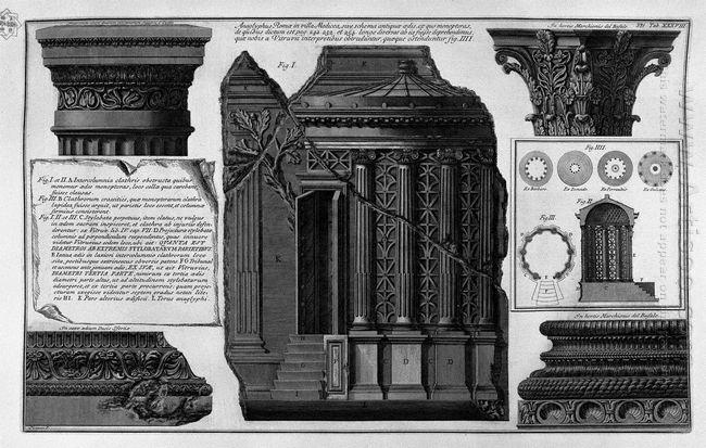 Villa Medici Anagliphus Rome Etc Capitals And Bases
