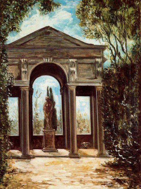 Villa Medici Pavilion With Statue