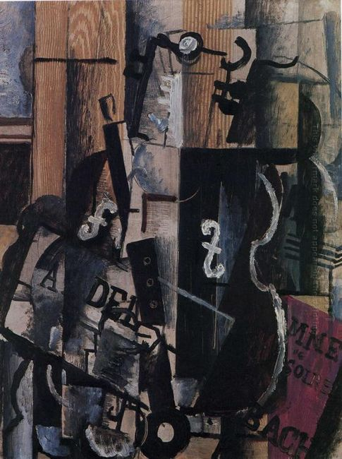 Violin And Clarinet On A Table 1912