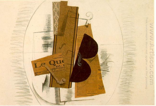 Violin And Pipe Le Quotidien 1913