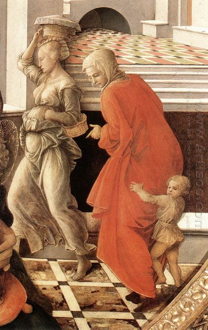 Virgin With The Child And Scenes From The Life Of St Anne Detail