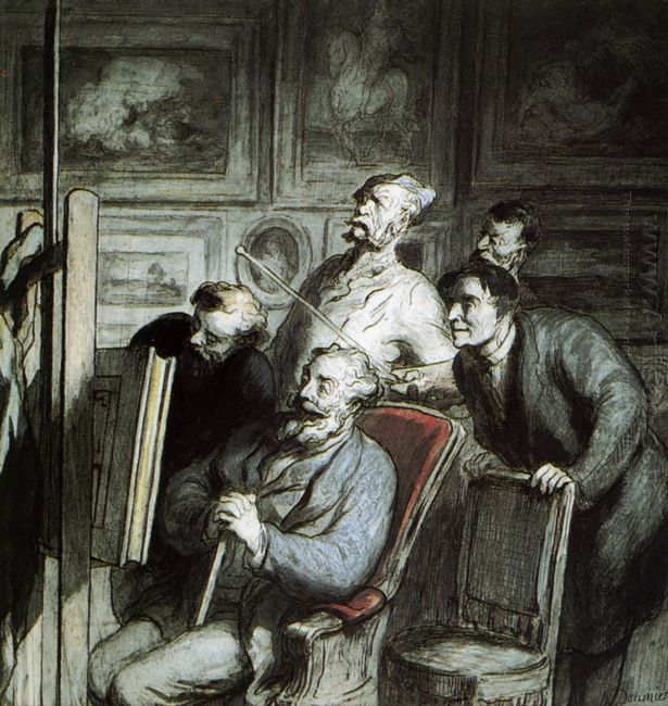 Visitors In The Workshop Of A Painter