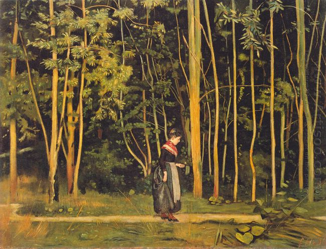 Walking At The Forest Edge 1885