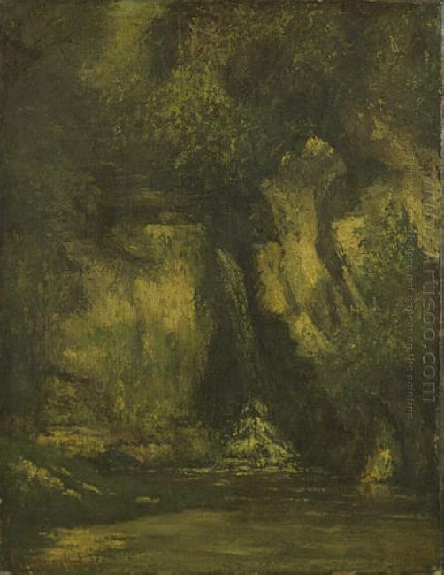 Waterfall In The Wood 1863
