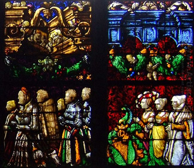 Western Stained Glass Window In The Stürzel Family Chapel