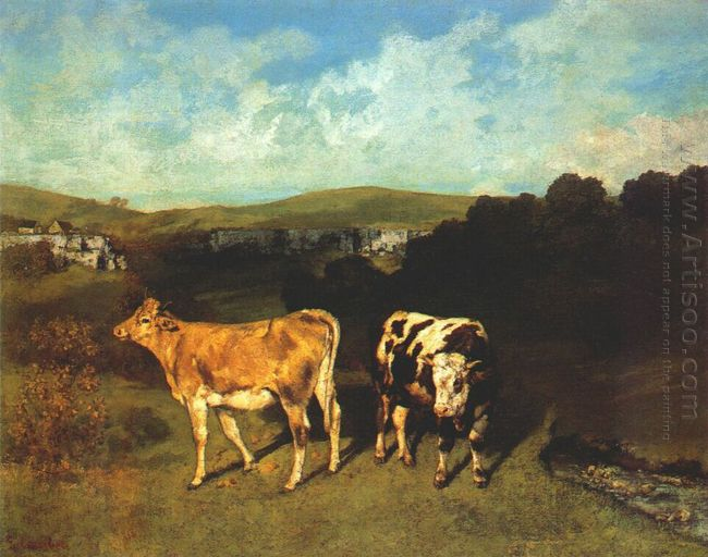 White Bull And Blond Heifer 1851