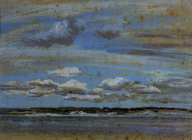 White Clouds Over The Estuary