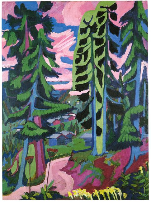 Wildboden Mountains Forest 1928