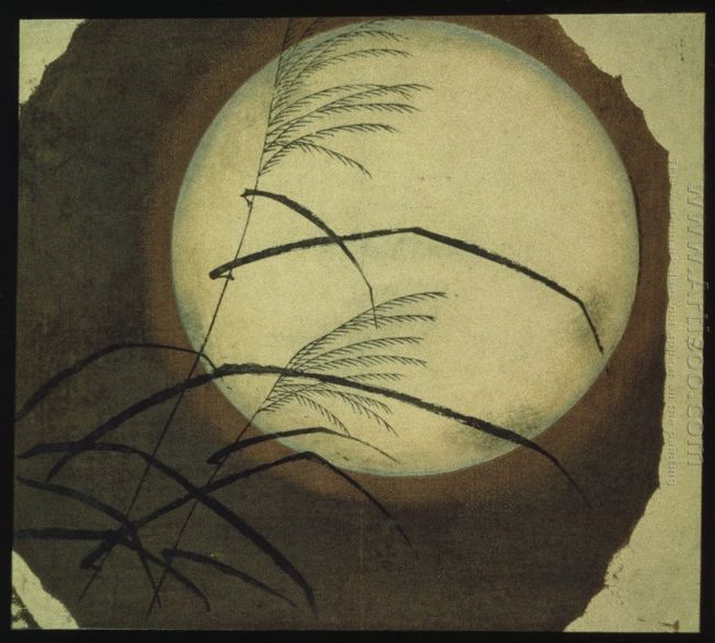 Wind Blown Grass Across The Moon