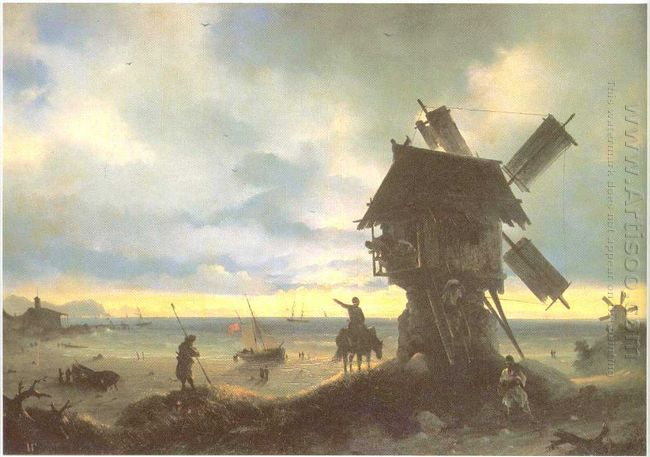 Windmill On The Sea Coast 1837