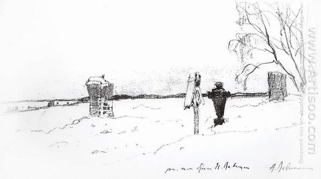 Winter Landscape Cemetery