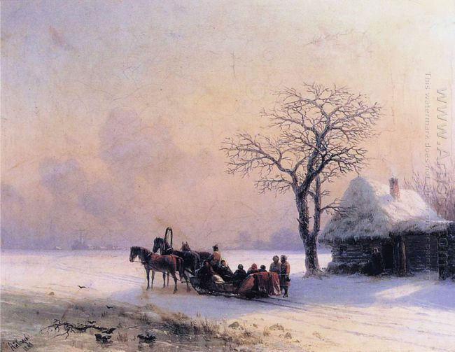 Winter Scene In Little Russia 1868