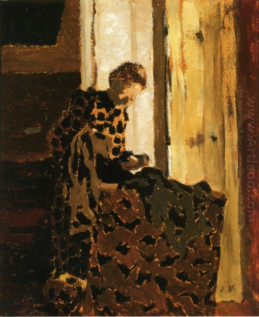Woman Brushing A Garment 1892