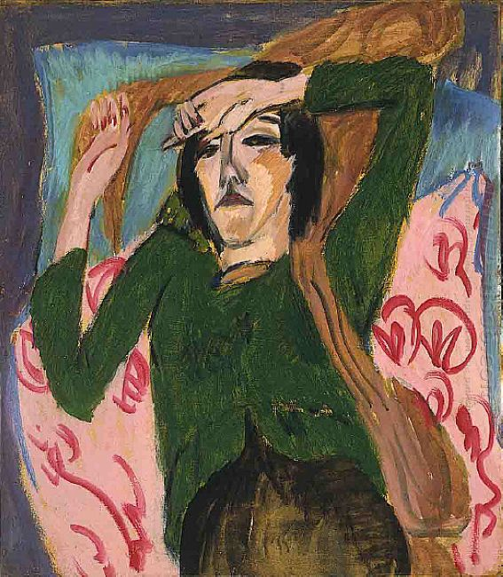 Woman In A Green Blouse
