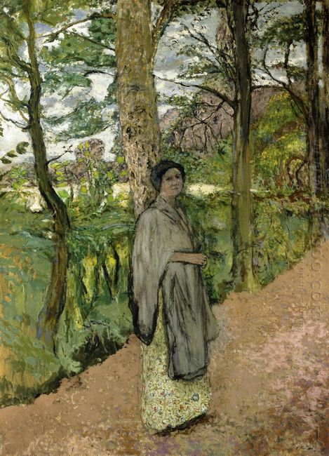 Woman In Grey In A Lane
