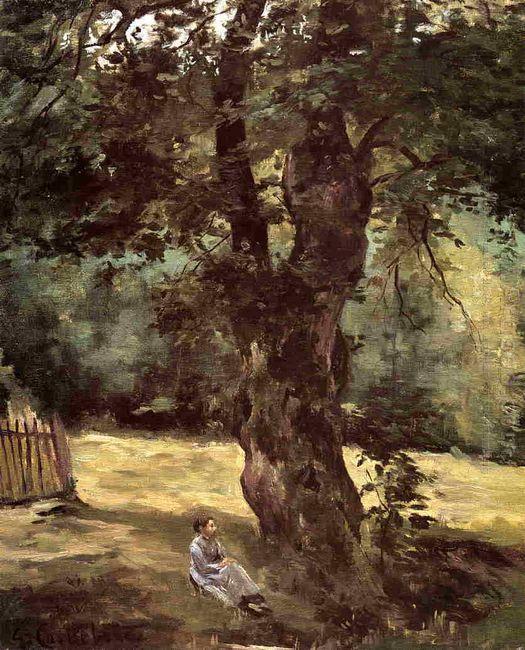 Woman Seated Beneath A Tree