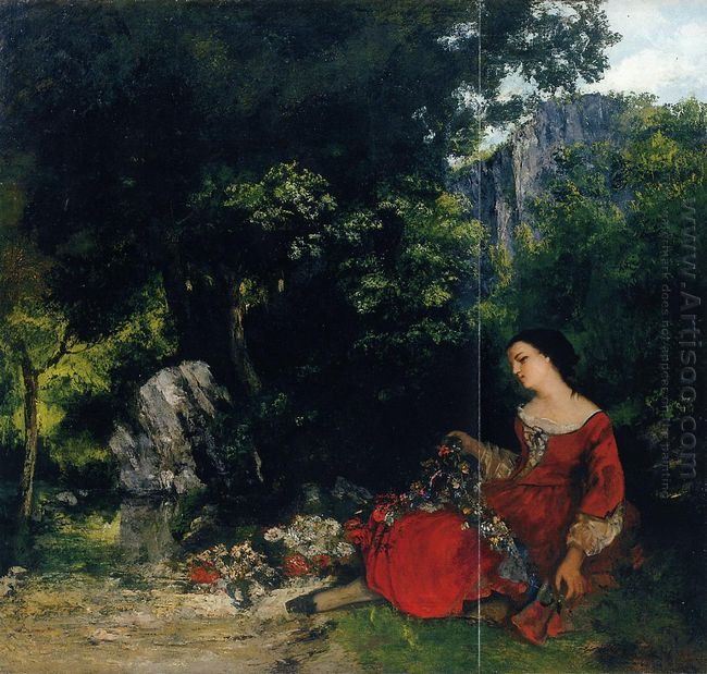 Woman With Garland 1856