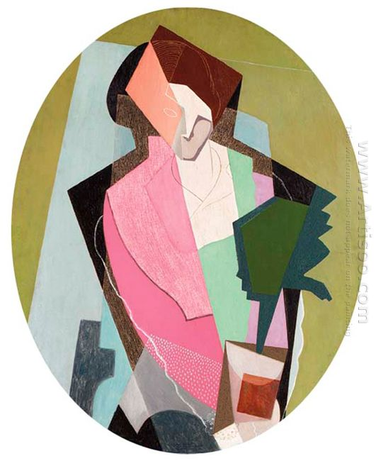 Woman With Green Plant 1917