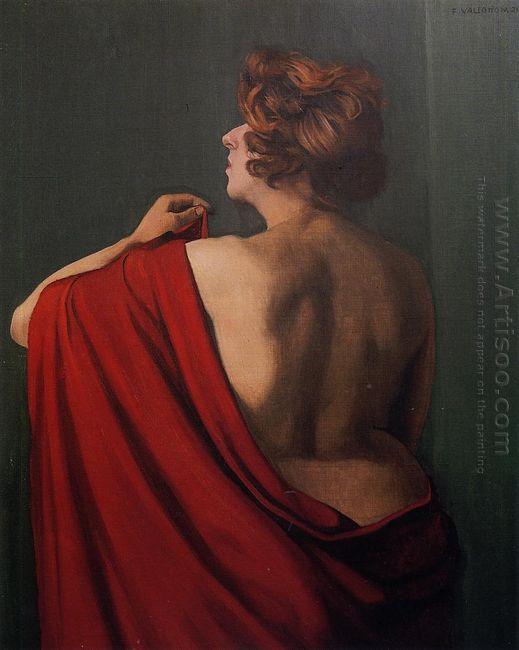 Woman With Red Shawl 1920