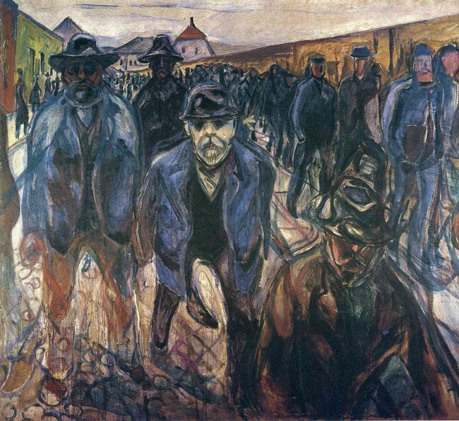 Workers On Their Way Home 1915
