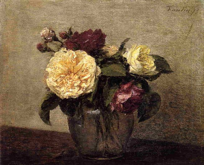 Yellow And Red Roses 1879