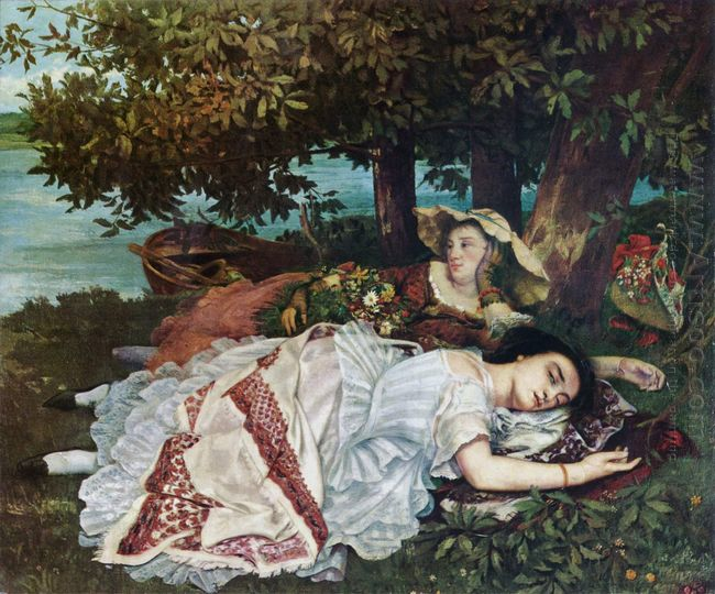 Young Ladies On The Banks Of The Seine Summer 1857