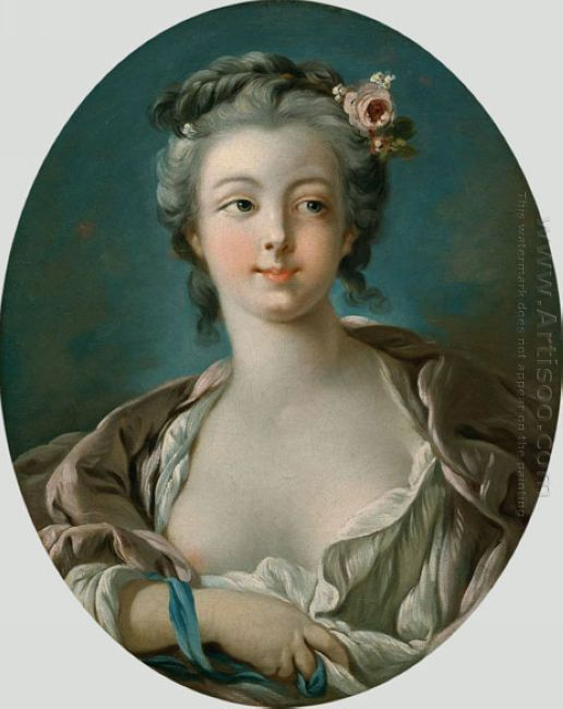 Young Woman With Flowers In Her Hair Wrongly Called Portrait Of