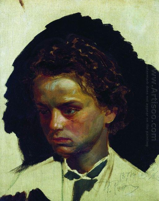 Youth Portrait Of Sculptor Ilya Yakovlevich Ginzburg 1871