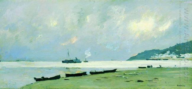 Yurievets Gloomy Day On The Volga 1890
