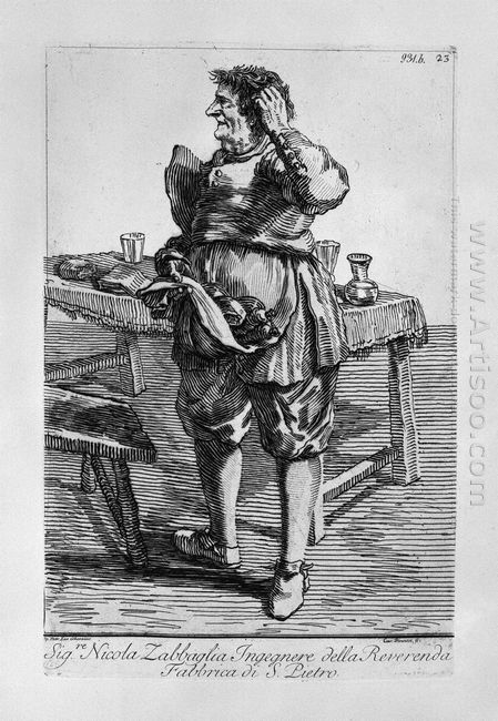 Zabaglia Caricature Of Nicholas The Reverend Fabric Of St Engine