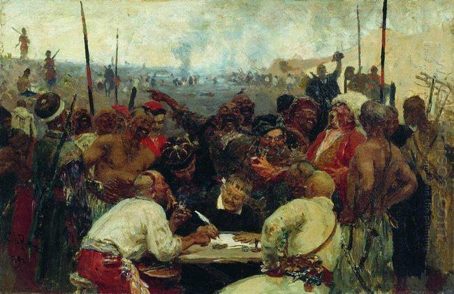Zaporozhtsy by Ilya Repin