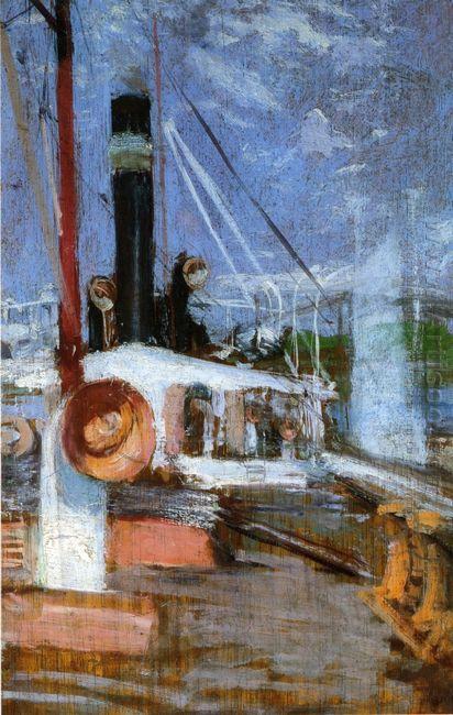 Aboard A Steamer 1902
