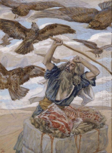 Abraham Guarding His Sacrifice