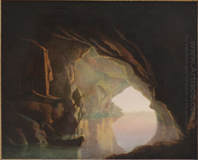 A Grotto In The Gulf Of Salerno Sunset