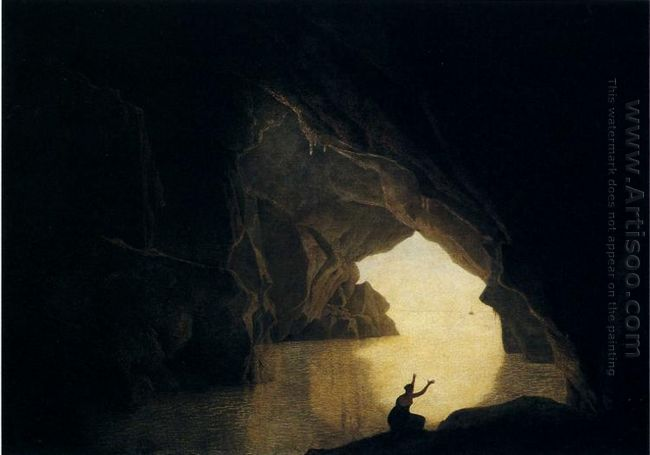 A Grotto In The Gulf Of Salernum With The Figure Of Julia Banish
