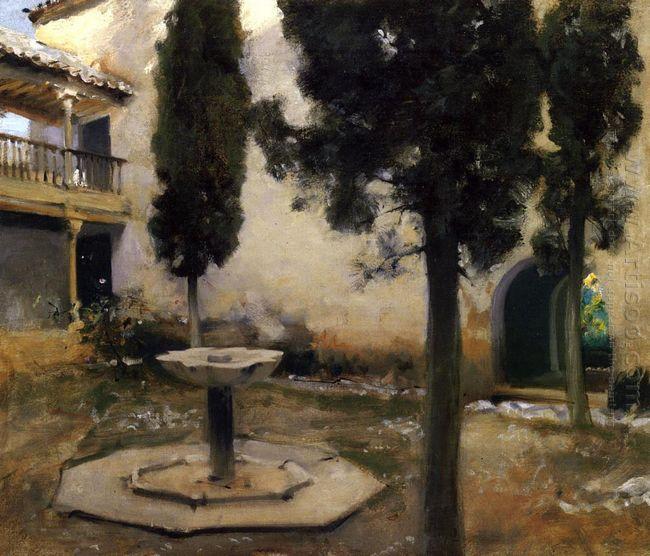Alhambra Patio De La Reja 1879