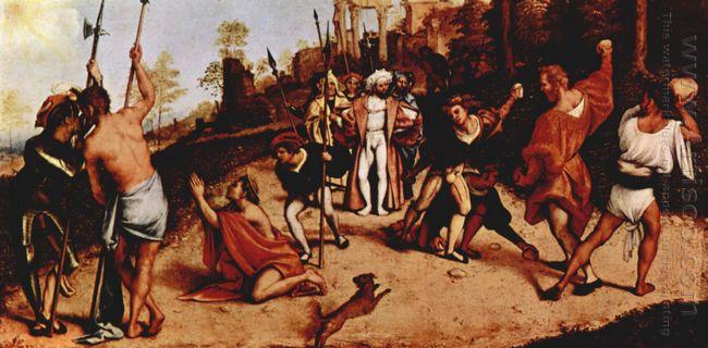 Altar Polyptych Of San Bartolomeo Bergamo Foot Plate Martyrdom O