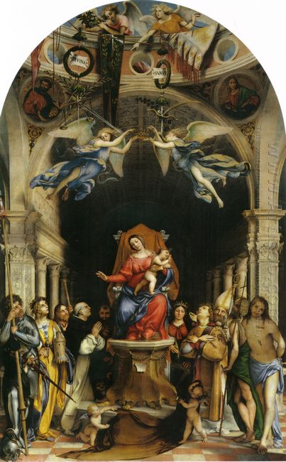 Altar Polyptych Of San Bartolomeo Bergamo Main Panel Enthroned M