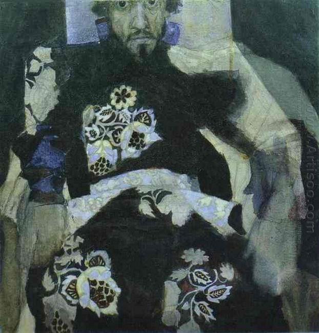 A Man In A Russian Old Style Costume 1886