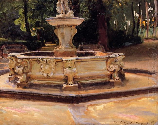 A Marble Fountain At Aranjuez Spain 1912