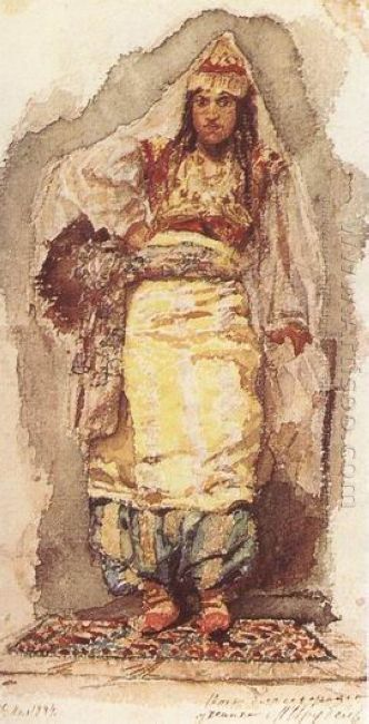 A Model With Eastern Dress 1884