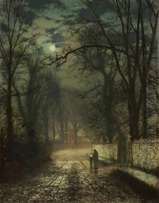 A Moonlit Lane 1874