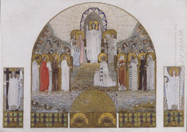 Am Steinhof Church Mosaic Design For The Main Altar 1905