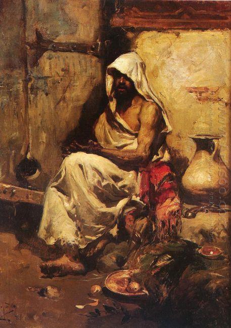 An Arab Examining A Pistol 1881