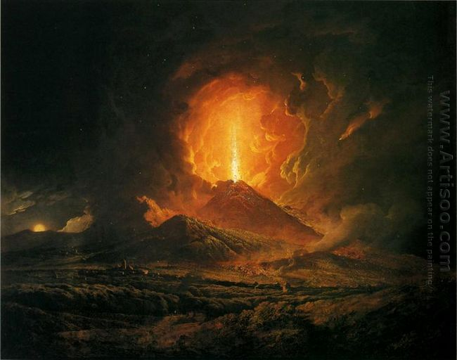 An Eruption Of Vesuvius Seen From Portici