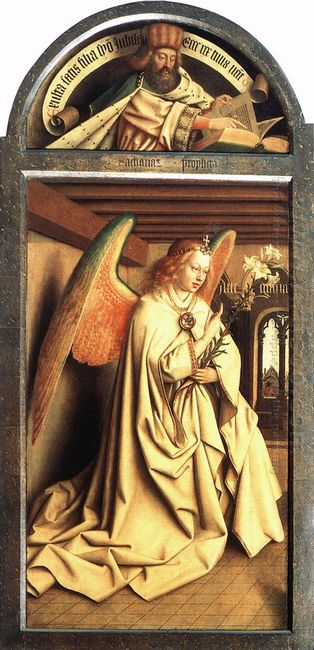 Angel Annunciate From Exterior Of Left Panel Of The Ghent Altarp