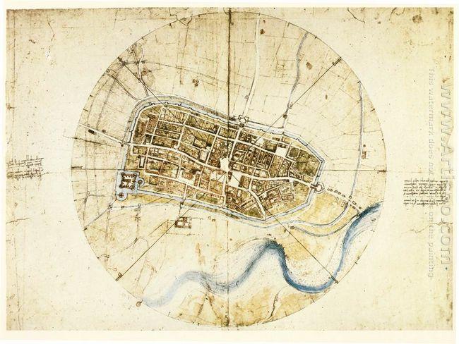 A Plan Of Imola 1502