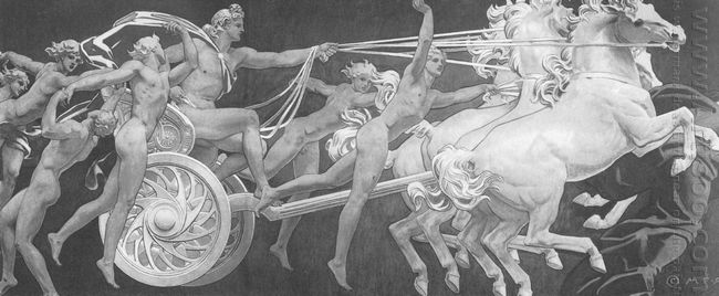 Apollo In His Chariot With The Hours 1925