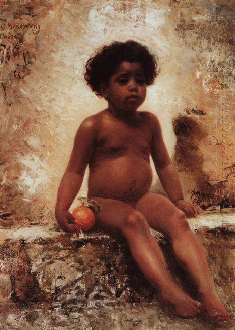 Arab Boy With An Orange