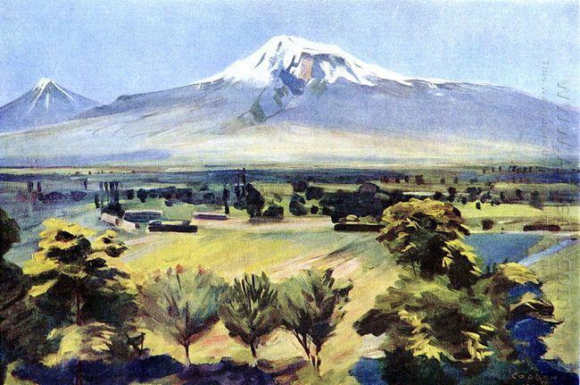 Ararat From Dvin 1952